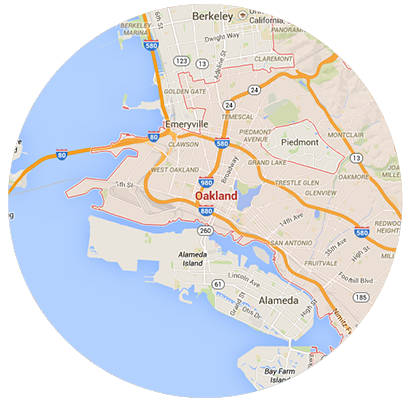 Oakland Garage Door Service Areas