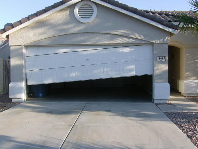 An Off Track Garage Door May Cause Accidents And Also Loss Of Money Apart  From Appearing Awful. It Is Not Advisable To Operate This Type Of Door With  ...